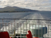 Craignure to Oban ferry, leaving Mull behind